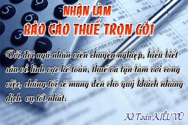 nhan lam bao cao thue